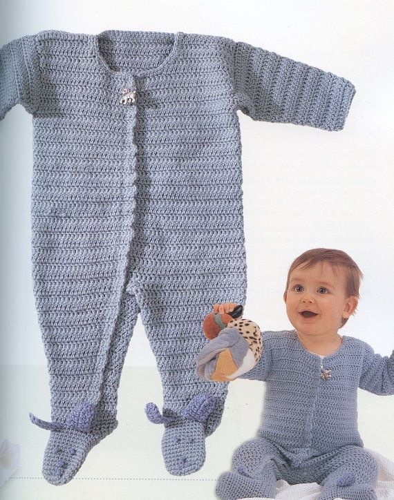 35 Best Crochet Baby Bunting Rompers Images On Pinterest