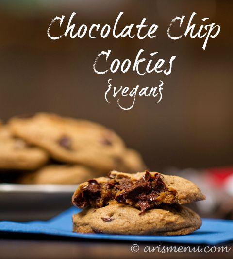 Cookies vegan, Chocolate chip cookies and Chip cookies on Pinterest