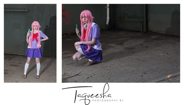 Yuno Gasai of Future Diary Cosplay photoshoot. Photography by Taqueesha