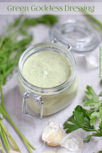 Green Goddess Salad Dressing - Busy in Brooklyn Delicious on ice cold potato salad.