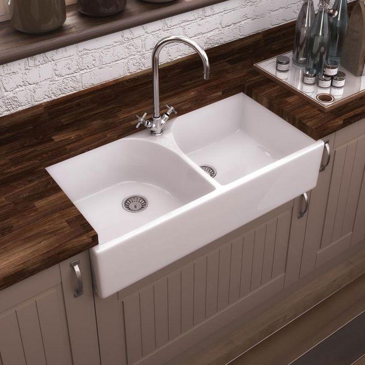 premier athlone butler ceramic kitchen sink btl009 - Double Ceramic Kitchen Sink