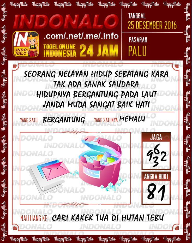Kode Wangsit 2D Togel Wap Online Live Draw 4D Indonalo Palu 25 Desember 2016