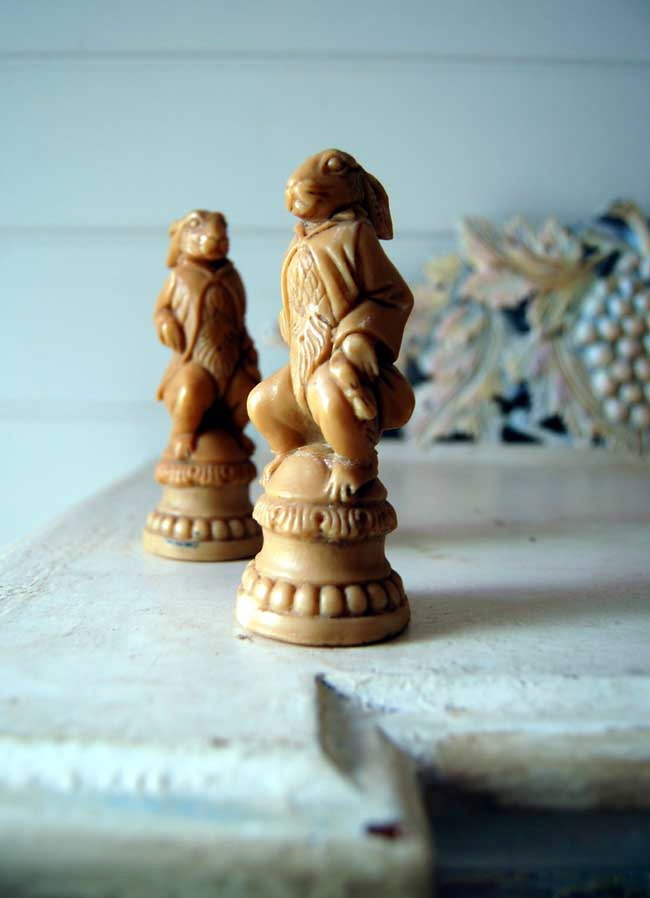 Just because I like them. Part of an old chess set I found at Balmain market.
