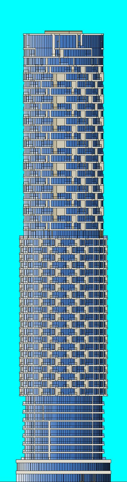 The Shard Baby 1998's Flickr | Wood Wharf A1 Building HD South elevation diagram | Drawn on Microsoft Paint 2007.