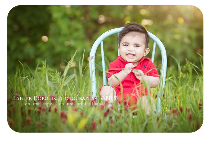 baby photography, infant photography, outdoors, indian paintbrushes