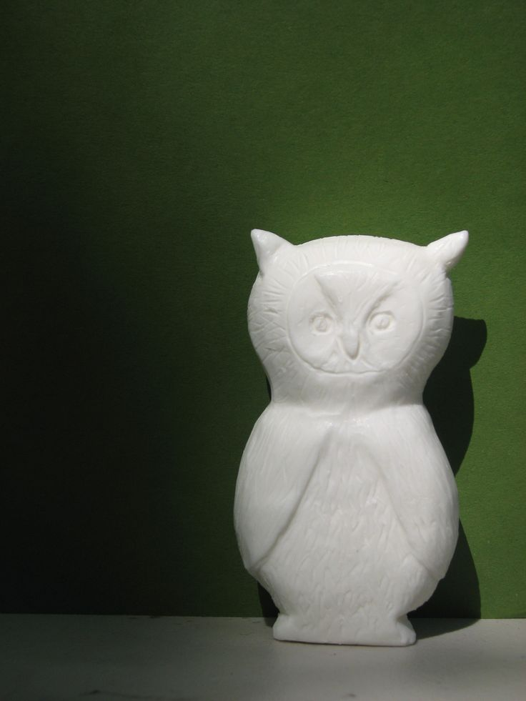 Owl soap carving from the birds of vermont museum