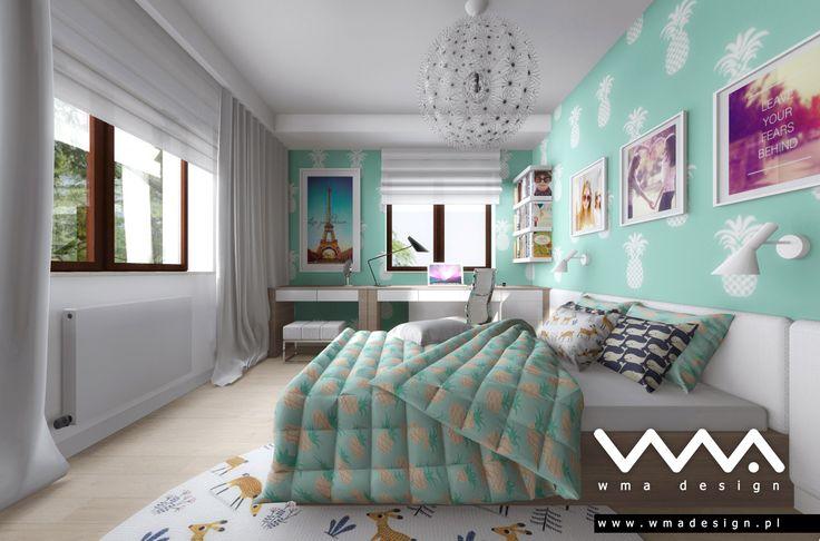 teen bedroom   pokój nastolatki   www.wmadesign.pl