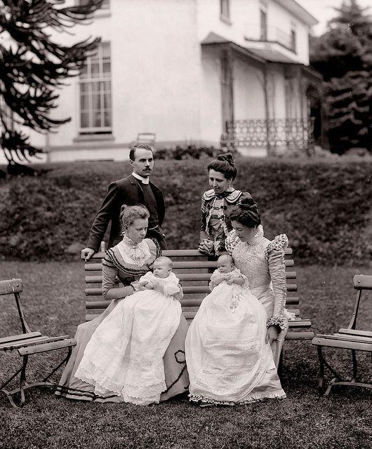 Two sweetly beautiful Victorian Irish babies on the day of their christening. Ireland Irish baby christening Victorian 1800s 19th_century