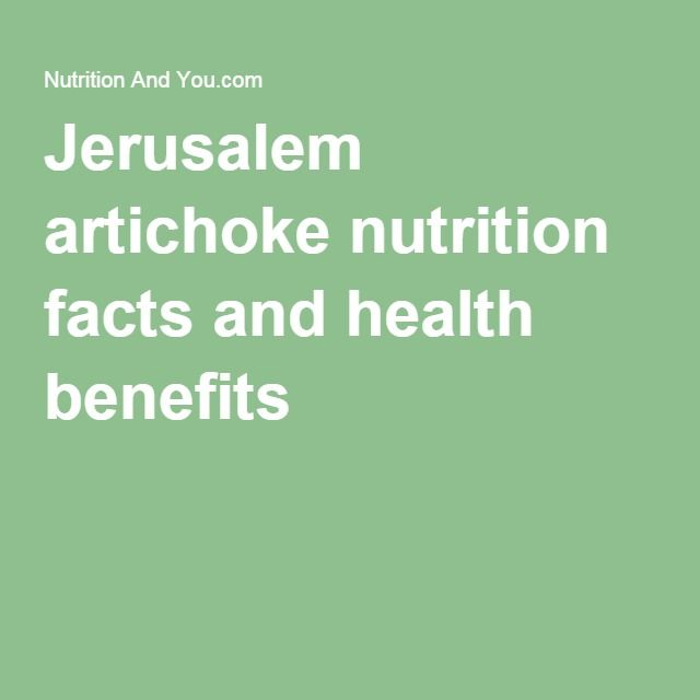 Jerusalem artichoke nutrition facts and health benefits