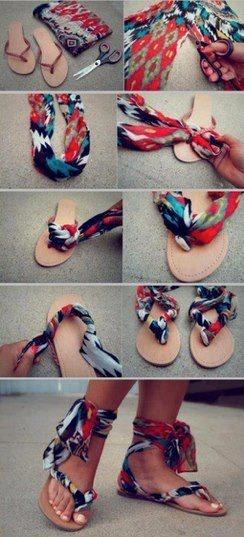 Una buena idea para reutilizar las sandalias :)