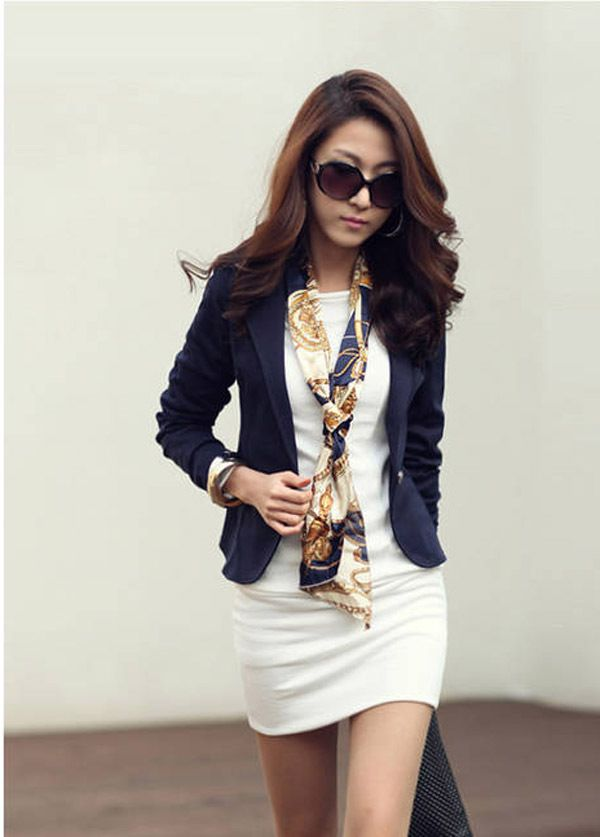 Korean Hot ladies single buckle Slim small suit-淘宝网 | Order on ...