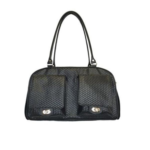 Style and convenience come together this holiday season with the Black Woven Marlee Dog Bag!