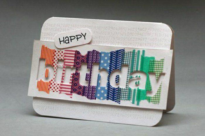 une originale décoration de carte d'anniversaire