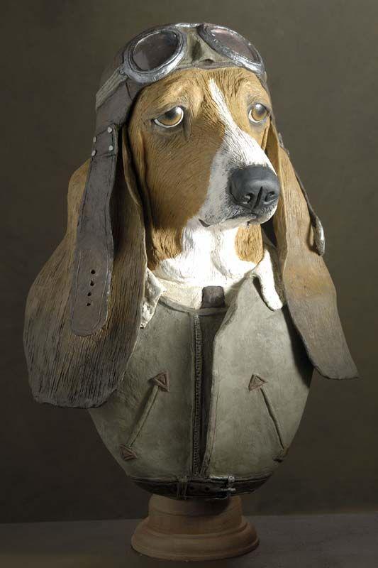 Basset-hound aviateur  Muse et Homme