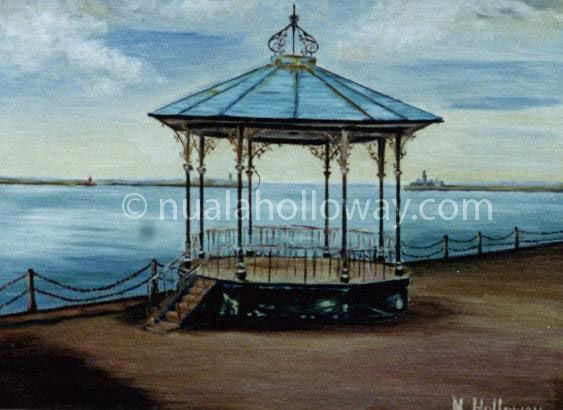 """""""Dun Laoghaire Bandstand"""" by Nuala Holloway - Oil on Board #IrishArt #Bandstand #DunLaoghaire #Dublin"""
