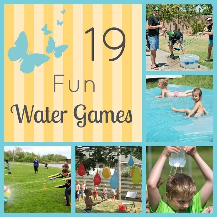 Water games are some of the best fun of the summer. Here are 19 fun water games you and your family can play at family reunions, play dates and more.