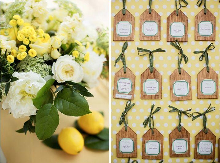 A whimsical lemon wedding- so cute! Photo by Jonathan Young Weddings