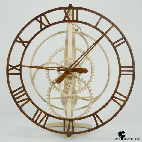 Solenoid coil driven wooden clock from Christopher Blasius