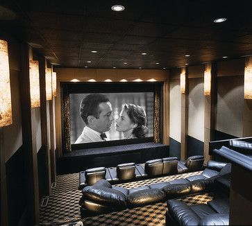 home theater with stage contemporary media room chicago tech tonic llc - Home Theater Stage Design