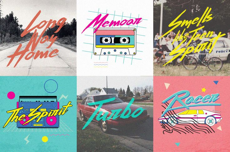 Introducing Thunderstorm typeface. A hand-made brush typeface inspired by 80s-90s music, retro, disco, grunge, and pop culture.uses for poster, logo, clothing, books, invitation, logo, etc.