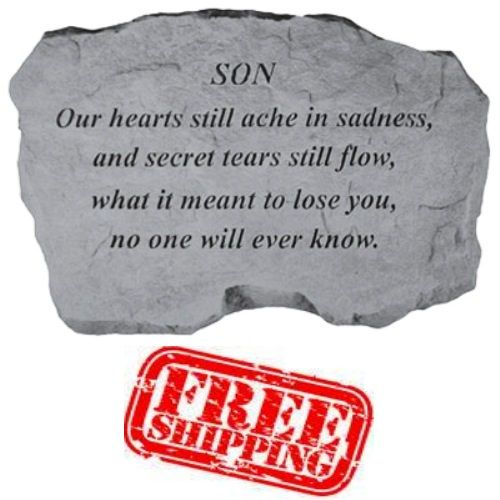 """""""Son - Our hearts still ache"""" Memorial Garden Stone"""