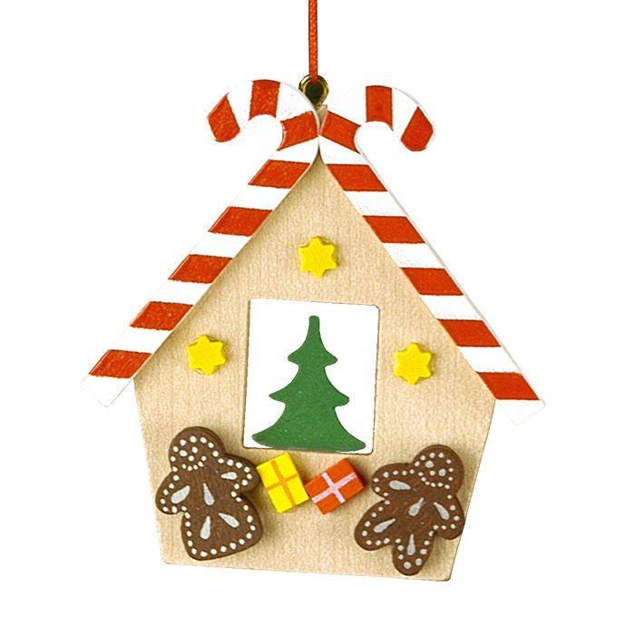 Alexander Taron Christian Ulbricht Wooden Gingerbread House Christmas  Ornament