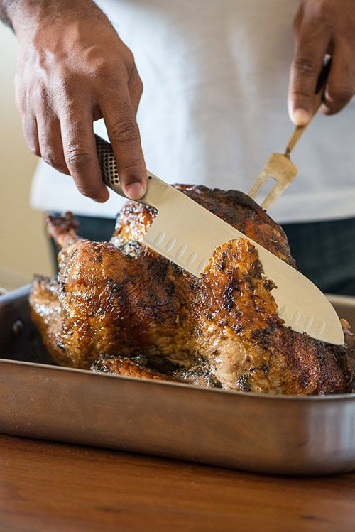 Tired of traditional turkey? Now that turkeys are on sale, consider baking a Jamaican jerk turkey! Use leftovers in tacos, sandwiches, soup or salads!