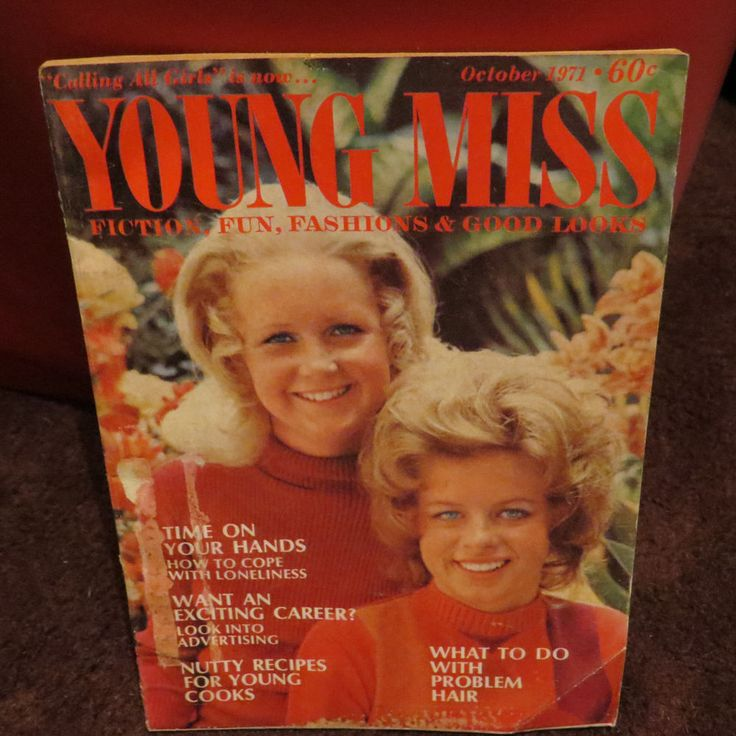 Vintage 1970's young miss magazine october 1971 fashion ...