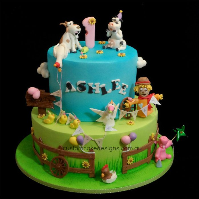 177 best images about barnyard cakes on pinterest farm for Animal cake decoration