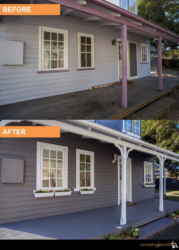 #facade #renovation #outdoorliving  See more exciting projects at: www.renovatingforprofit.com.au