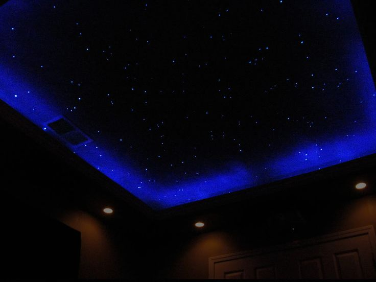 painted stars with black light i like home theater sky home sky ceiling home theater. Black Bedroom Furniture Sets. Home Design Ideas