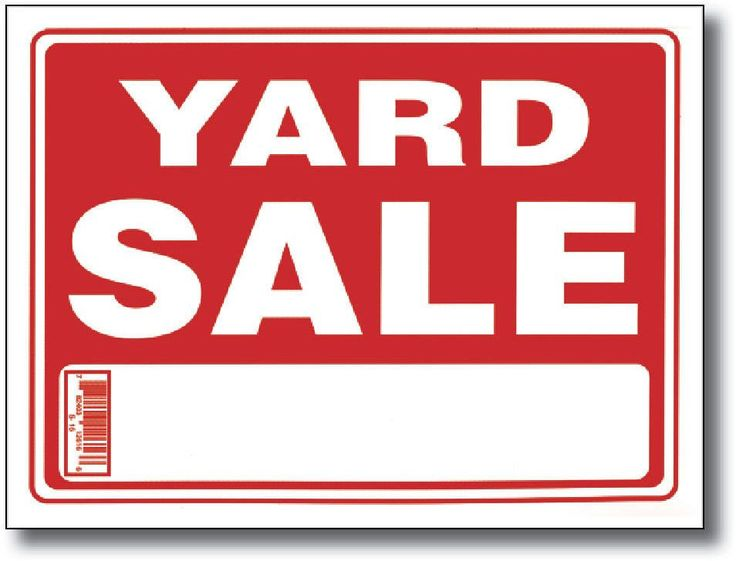 """12"""" x 16"""" yard sale sign Case of 24"""