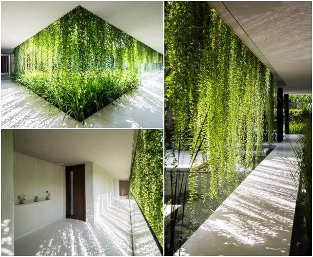 M s de 25 ideas incre bles sobre salas de meditaci n en for Muros verdes arquitectura