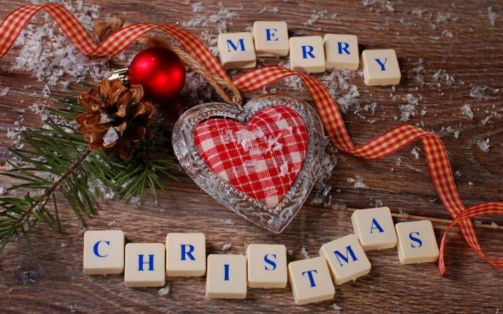 Merry christmas heart ball fondo de Pantalla 13027 Fondos de pantalla HD. Wallpapers HD