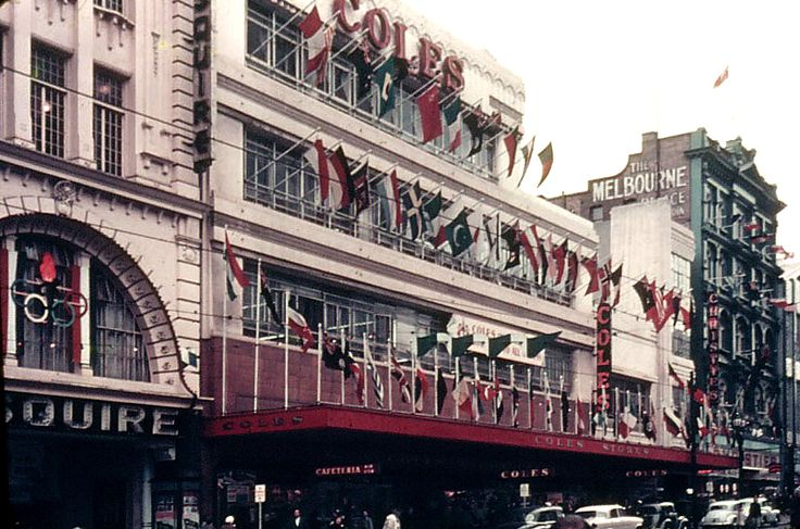 Melbourne: Coles & Esquire Theatre Bourke St. November 1956 - Olympic City
