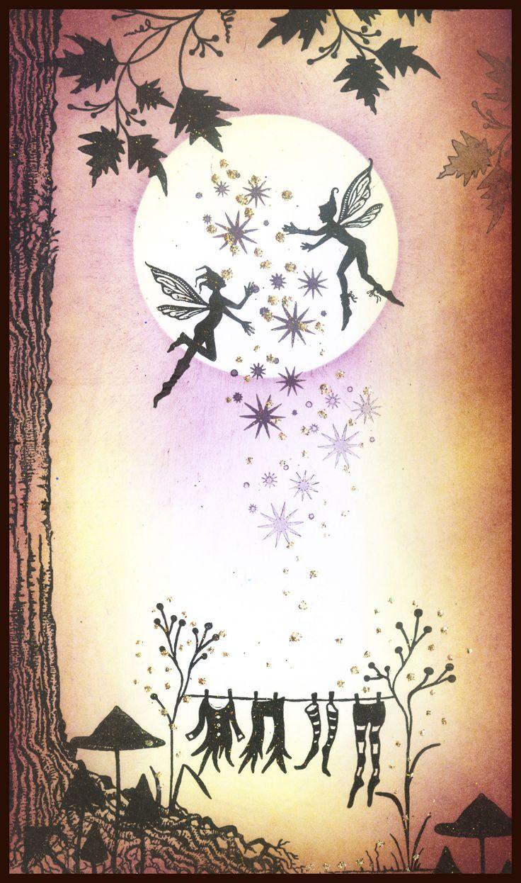 Fairies make light of laundry silhouette