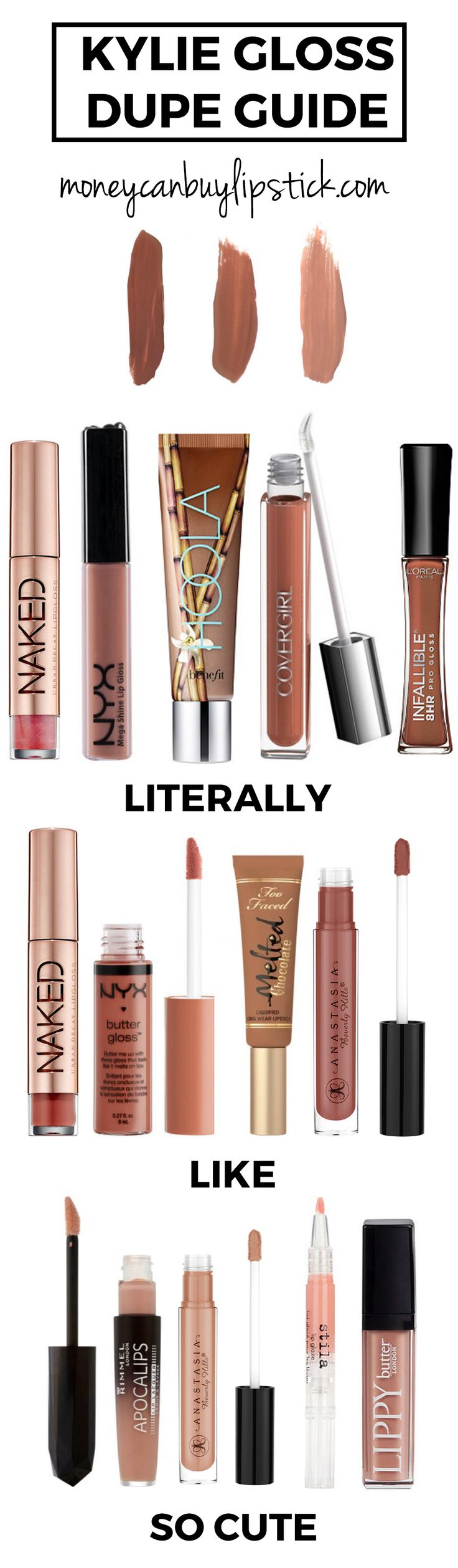 Kylie Cosmetics Gloss Dupe Guide | Money Can Buy Lipstick | Bloglovin'