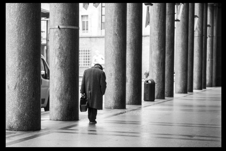 """On my way"" #my #way #old #man #black #white #street #streetphorography #tourin #italy"