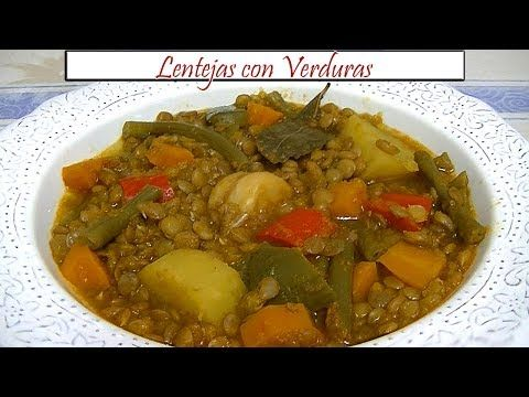 Lentejas con Verduras   Receta de Cocina en Familia - YouTube