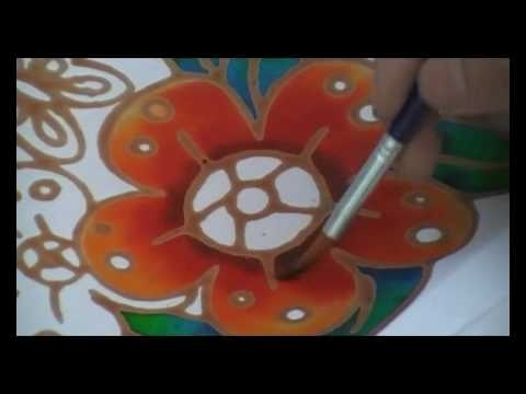 Batik Painting - How To Paint Batik Simple and Quick