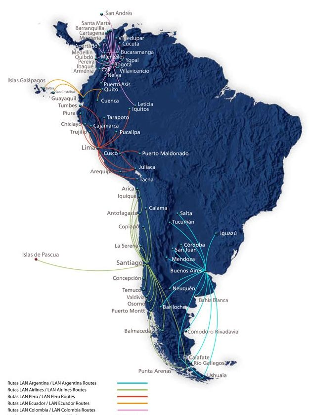 LAN South American domestic networks 214 best