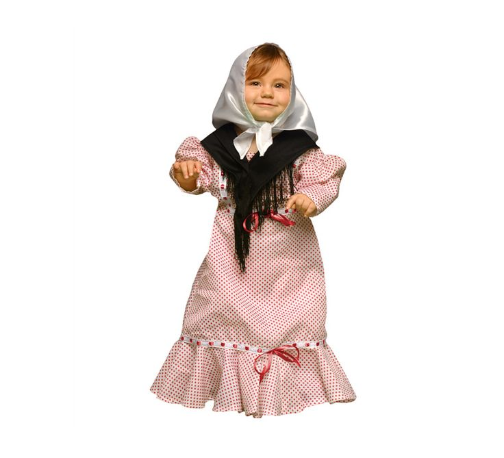 Disfraz de #Madrileña o #Chulapa para #Bebés. #SanIsidro #Madrid #FeriadeSanIsidro #Disfraz