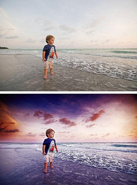 beach wow shot using photoshop techniques
