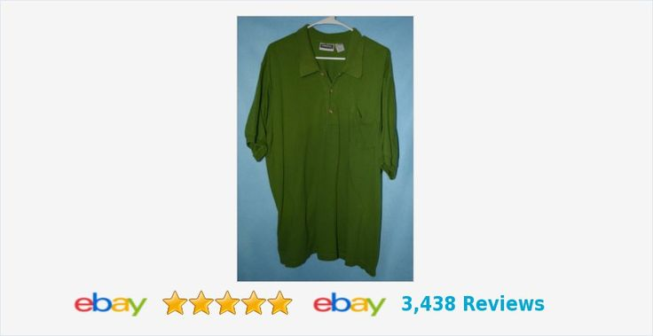 Mens GREEN 2XL King Size shirt cotton knit | eBay #polo #rugby #kingsize #HoHoHoGreenGiant