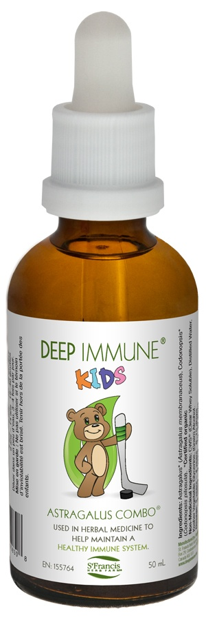 Deep Immune® Kids: St. Francis Herb Farm s a combination that acts to support healthy immune function in kids. The ingredients, astragalus and codonopsis, are considered qi tonic herbs in traditional Chinese medicine (TCM) and have hundreds of years of traditional use behind them. On sale at The Health Garden for $17.99