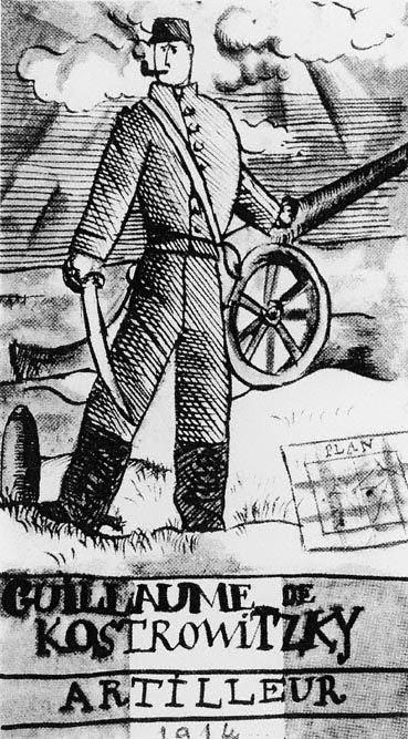 Gunner Guillaume de Kostrowitzky, Pablo Picasso, 1914