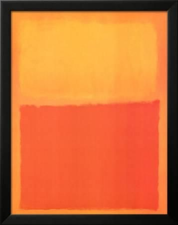 Orange and Yellow Framed Art Print by Mark Rothko at Art.com