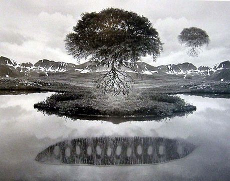 Jerry Uelsmann-'Untitled 1969 '-Telluride Gallery of Fine Art