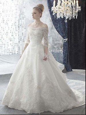 New Elegant Custom Off Shoulder A Line Bridal Wedding Dress Ball Gown DC518    eBay54 best Wedding dress images on Pinterest   Wedding dressses  . Off The Shoulder A Line Wedding Dresses. Home Design Ideas