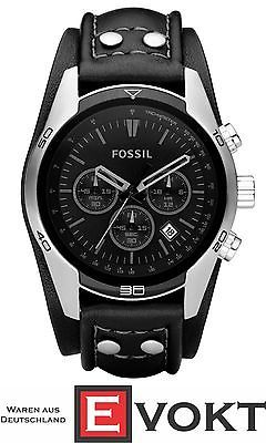 Fossil Watch CH2586 Men's Sport Leather Stainless Steel Chronograph Genuine New